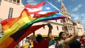 LGBT activists celebrate in the streets of San Juan. | Photo: Twitter