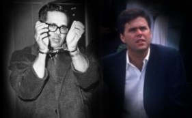 Orlando Bosch in custody after his arraignment in Hartford, Conn., in 1965, and Jeb Bush in 1988. (Photo illustration: Yahoo News; photos: Bettmann/Corbis,