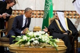 Saudi King Salman meets with President Barack Obama at Erga Palace during a state visit to Saudi Arabia on Jan. 27, 2015. (Official White House Photo by Pete Souza)
