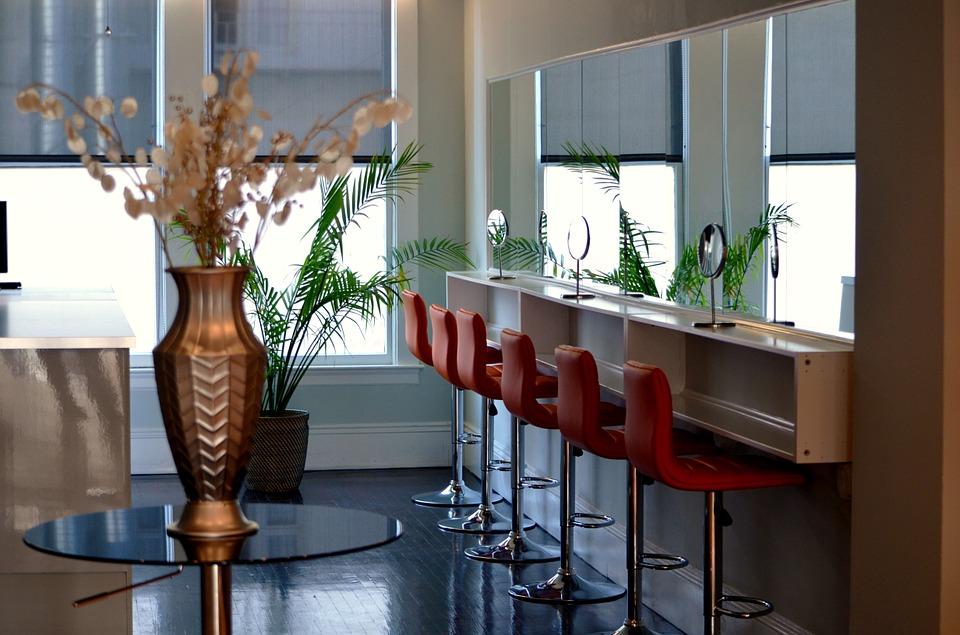 iluminación en los salones de peluquería