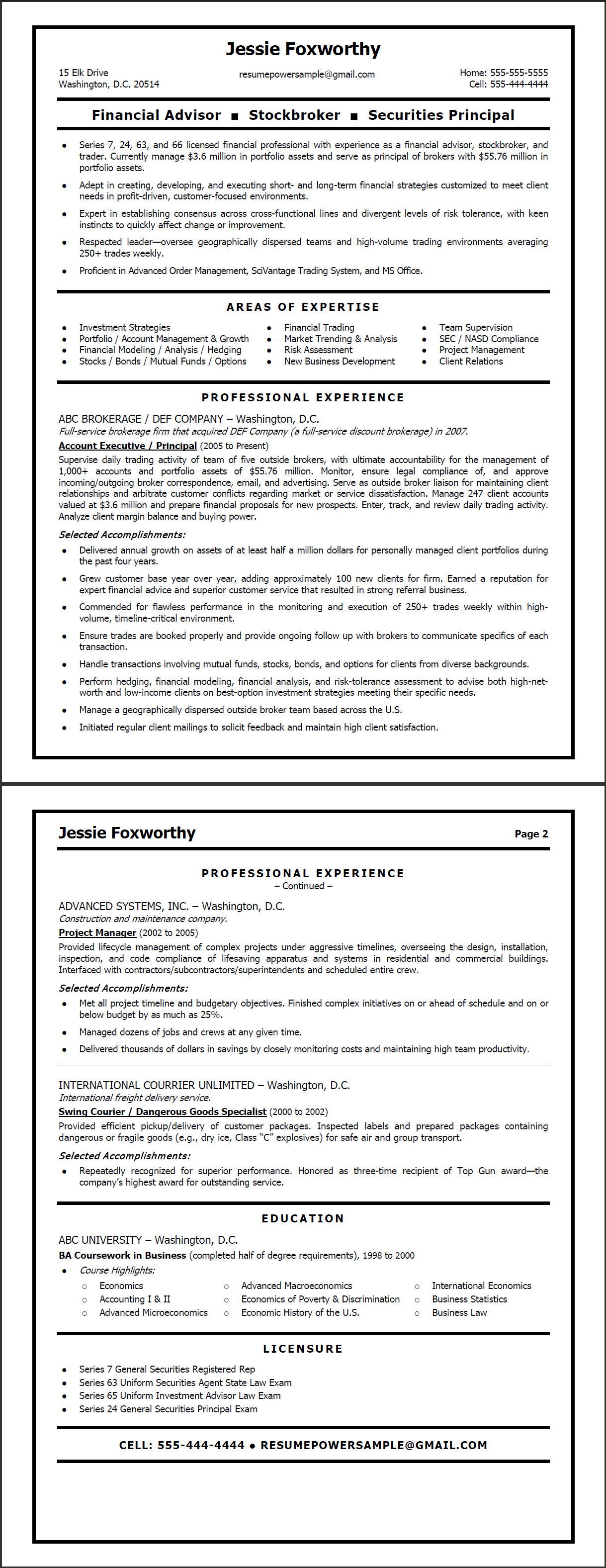 Stock Resume Examples. sample stock broker resume wikihow ...