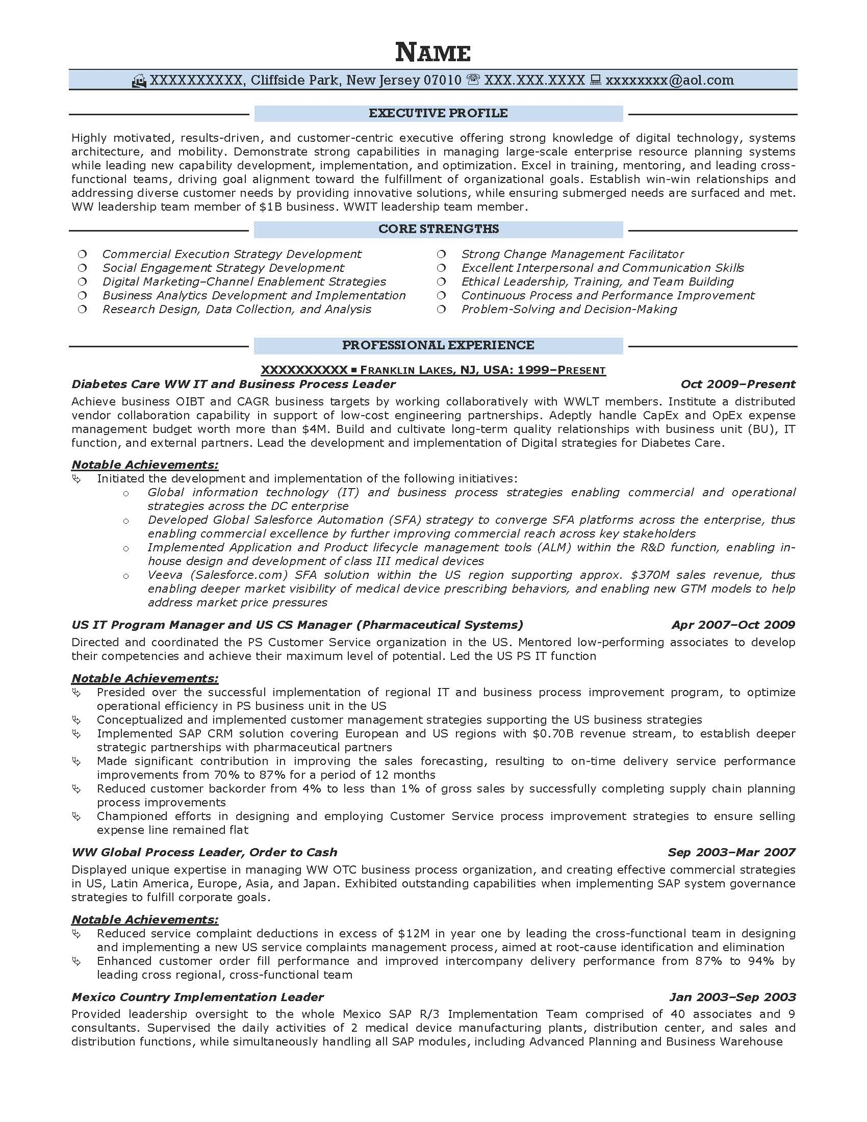 sample warrant officer resume summary