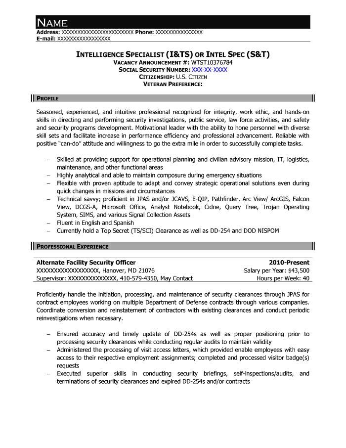 Sample Federal Job Resume. Resume Usa Jobs Federal Resume Sample