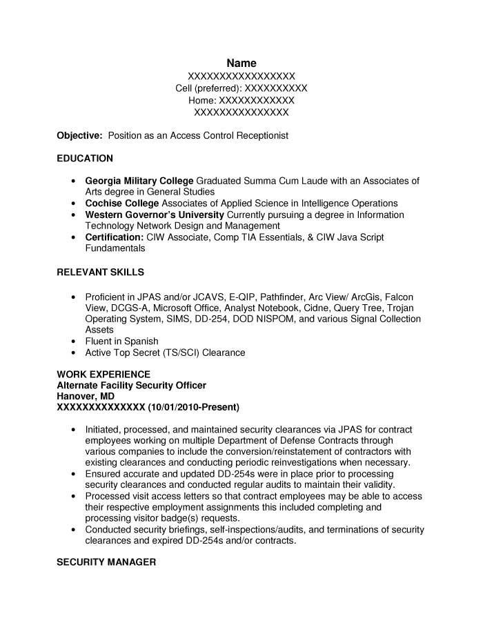 Free Examples Of Federal Resumes. Resume Example Sample Federal