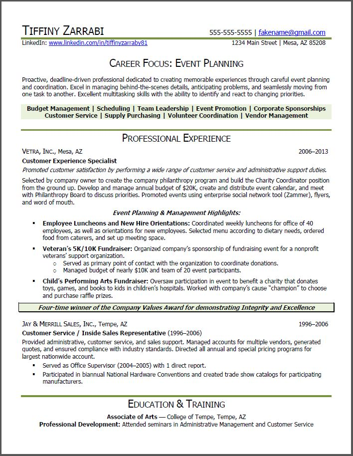 Event Planning Resume Objective event planner resume objective – Event Planner Resume Objective