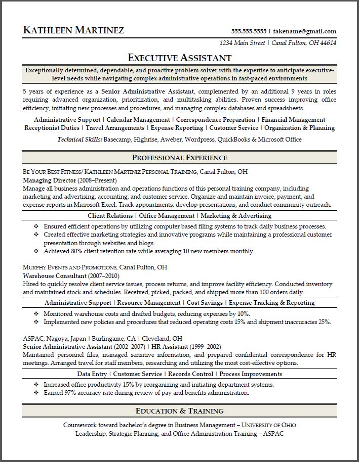 resume power buzz words