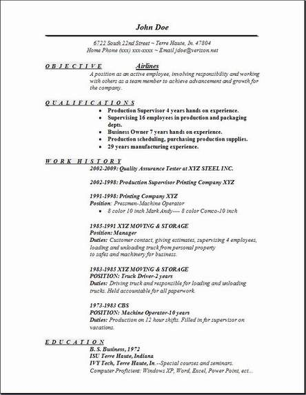 Sample Pilot Resume. pilot resume example district of instructor ...