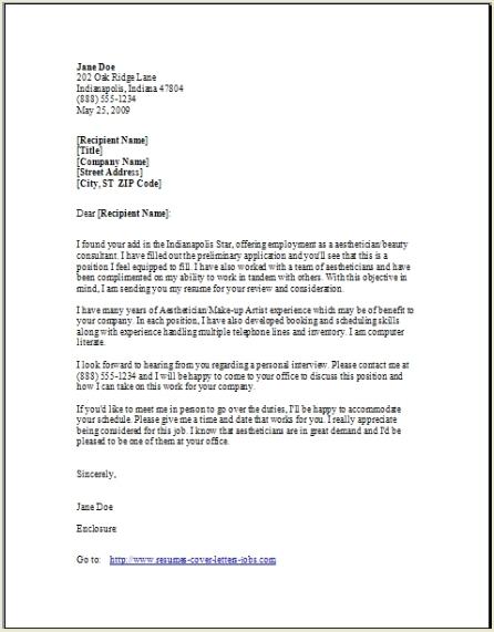 kinds of application letter