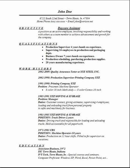 daycare assistant resume daycare resumes volumetrics co