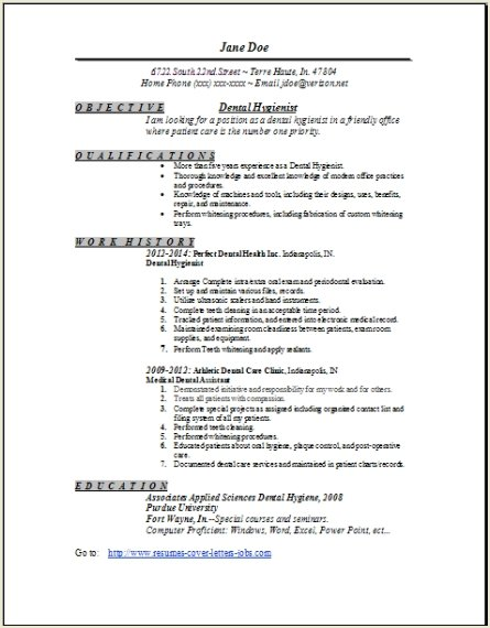 dental resume template resume sample - Dental Resumes Samples