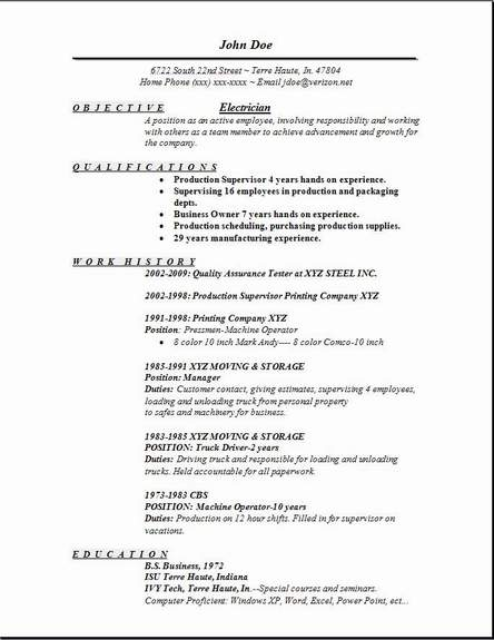 best electrician resumes template