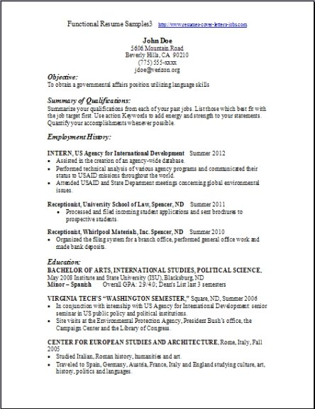 functional resumes pictures to pin on pinterest