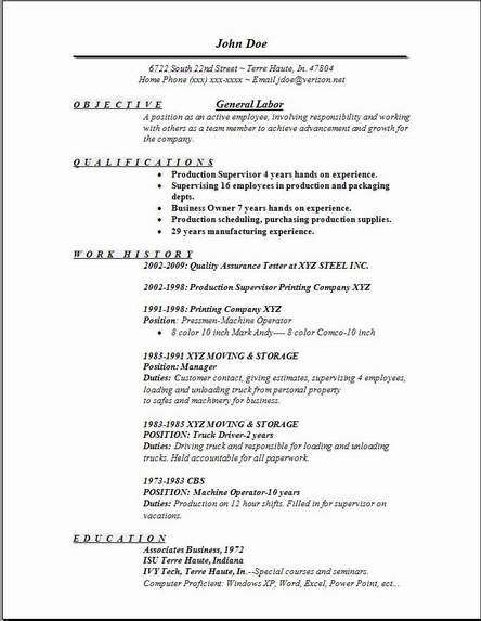 labor resume1