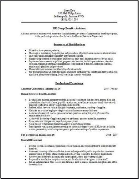Hr Manager Resumes. Professional Human Resources Resume Samples