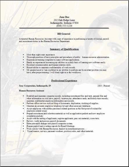 hr general resume3