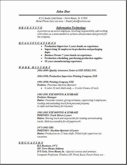 information technology resume template resume sample
