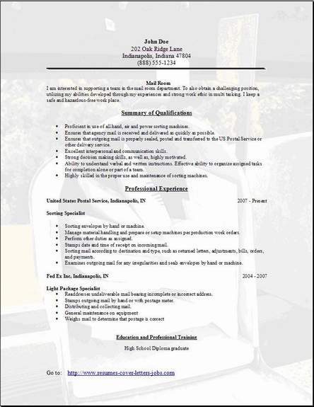 Mail Clerk Resume. warehouse clerk cover letter sample warehouse ...