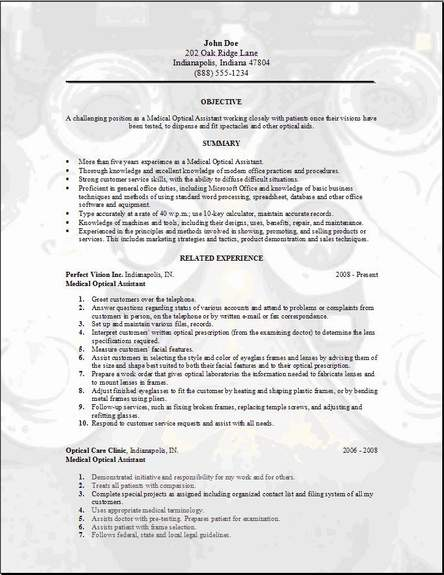Optician Resumes. optician resume apprentice optician resume ...