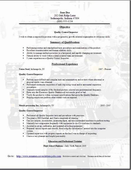 the most brilliant resume format for software tester resume qc resume sample qc resume sample quality - Curriculum Vitae Sample For Quality Control