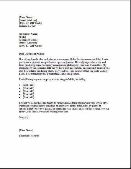 Cover Letter Sample For Resume | Resume Cover Letter and Resume ...