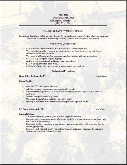 Employment Resume Template. Basic Examples. Doctor Cool Www Kid