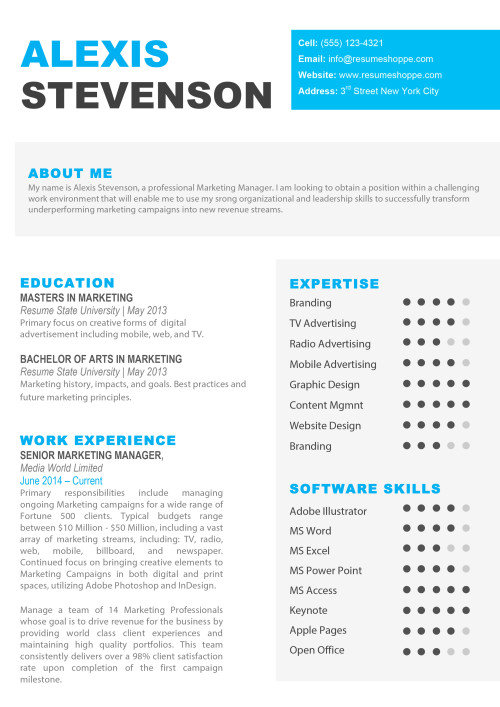 Resume Templates For Mac Word Amp Apple Pages Instant Download
