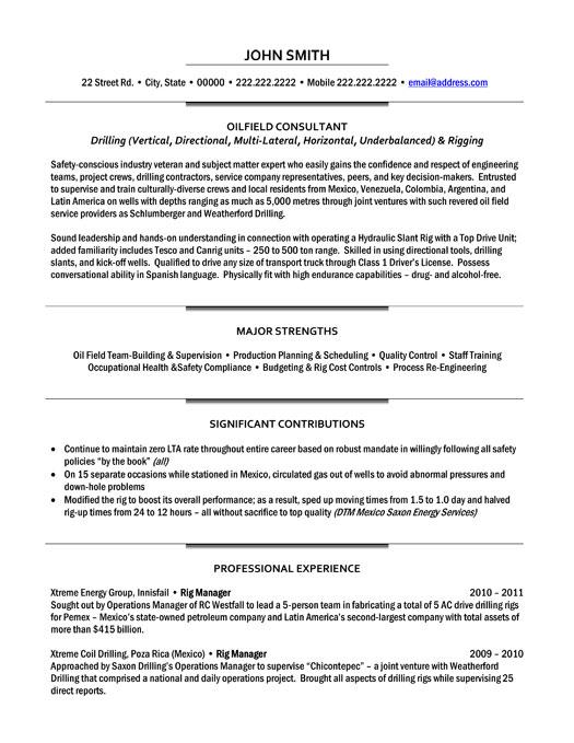 oilfield consultant template premium samples example