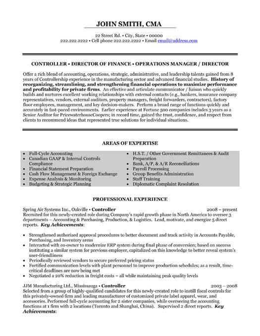 controller resume template premium resume samples amp example