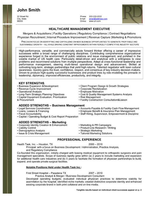 management executive template premium