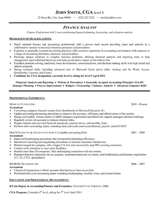 Example Resume Financial Analyst. senior financial analyst resume ...