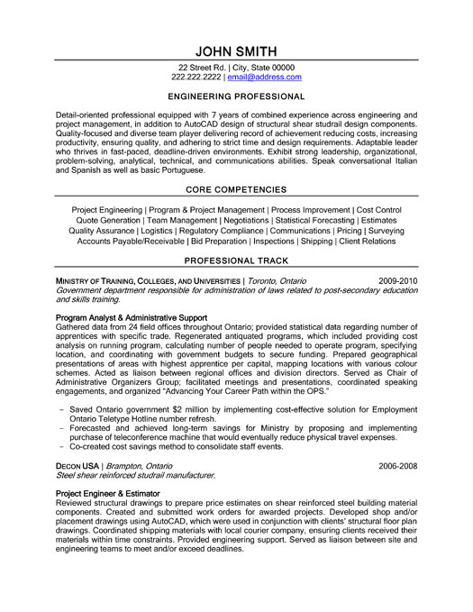 Professionals Resume Format. Professional Resume Formats Free