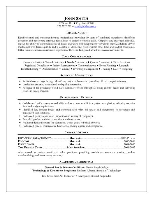travel agent resume template premium resume samples amp example