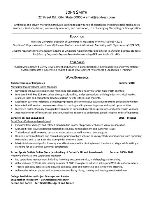marketing resume template product id resume template