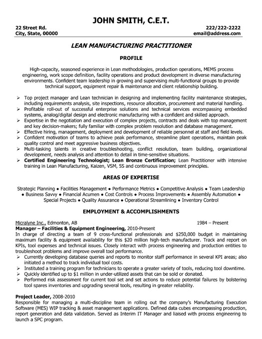 Manufacturing Engineer Resume Samples. Engineer Cover Letter