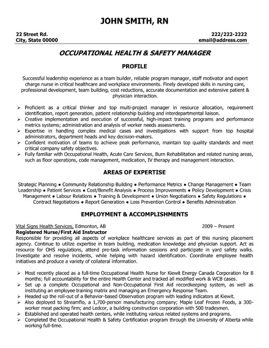 and safety manager resume template premium resume samples amp example