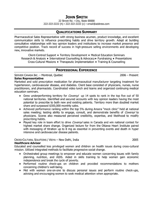 examples of resumes for sales jobs marketing representative