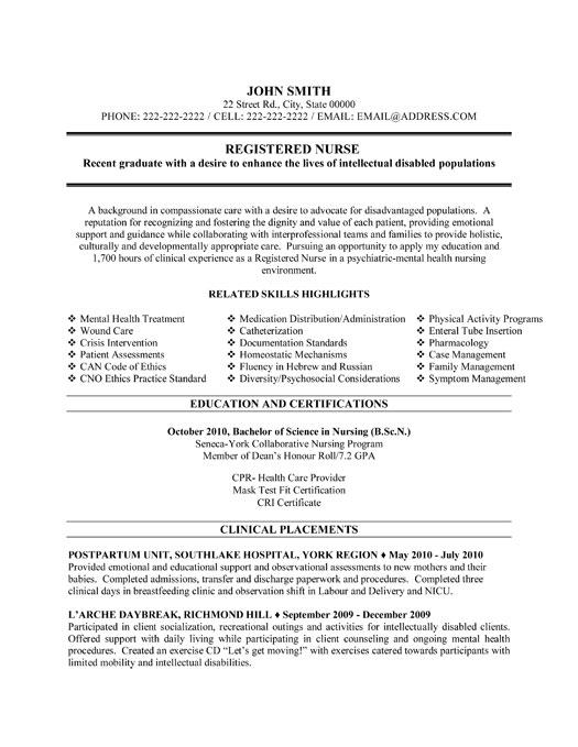 Free Registered Nurse Resume Examples. Resume Examples Samples