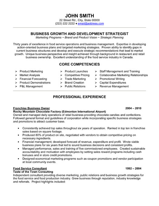 Owner Operator Resume Examples. business owner resume template ...
