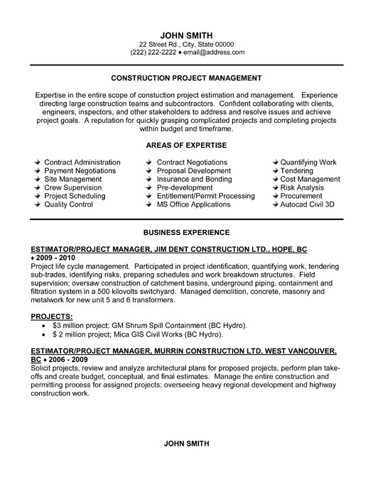 Resume project management objective examples – Logistics Resume Objective