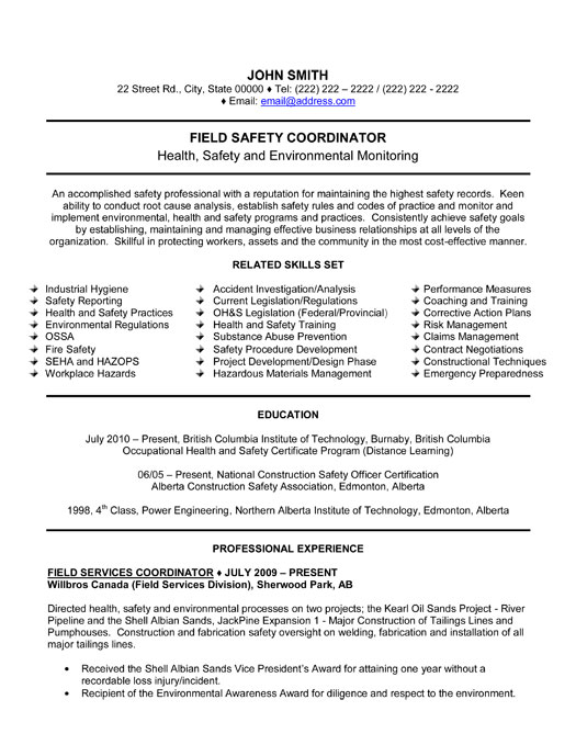 Resume Safety Manager Pipefitter Examples Samples