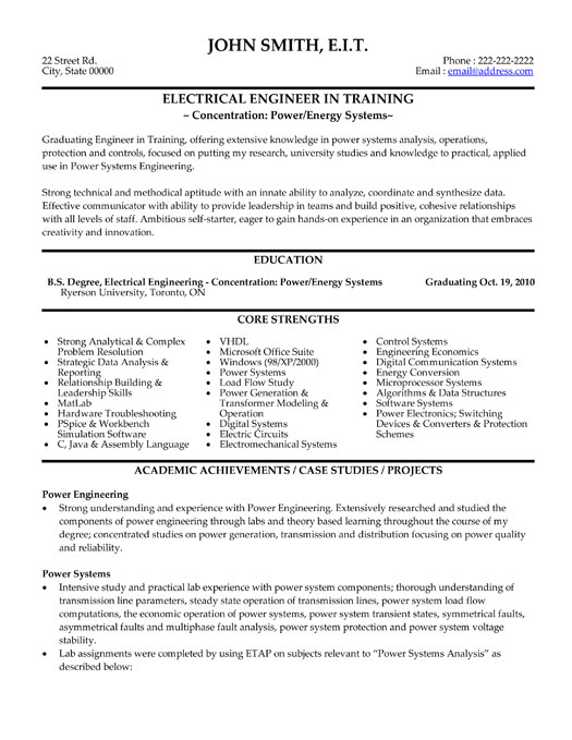 resume format of electrical engineer resume for engineering civil