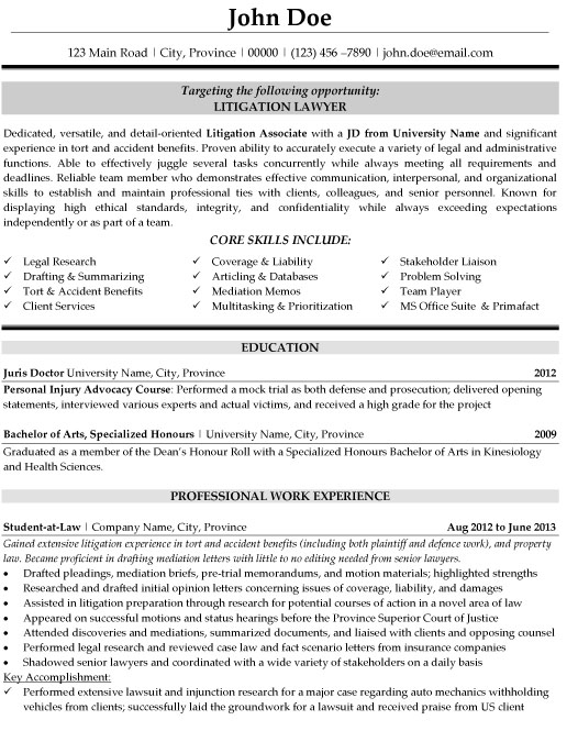 litigation lawyer resume template premium resume samples amp example