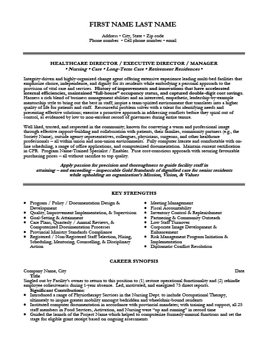 Healthcare It Resume Template. Healthcare Resume Sample Template