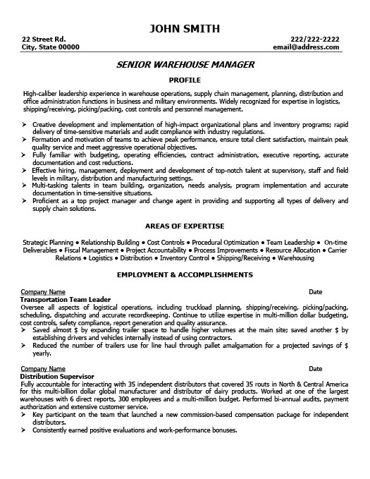 no work experience warehouse worker resume warehouse manager resumes