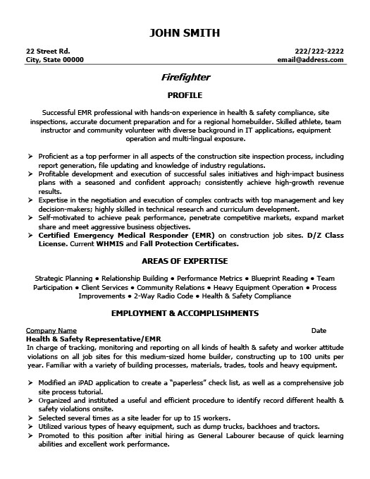 firefighter resume template premium resume samples amp example