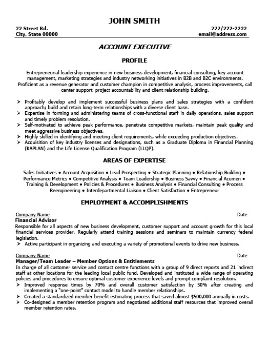 account executive resume senior account executive resume sample
