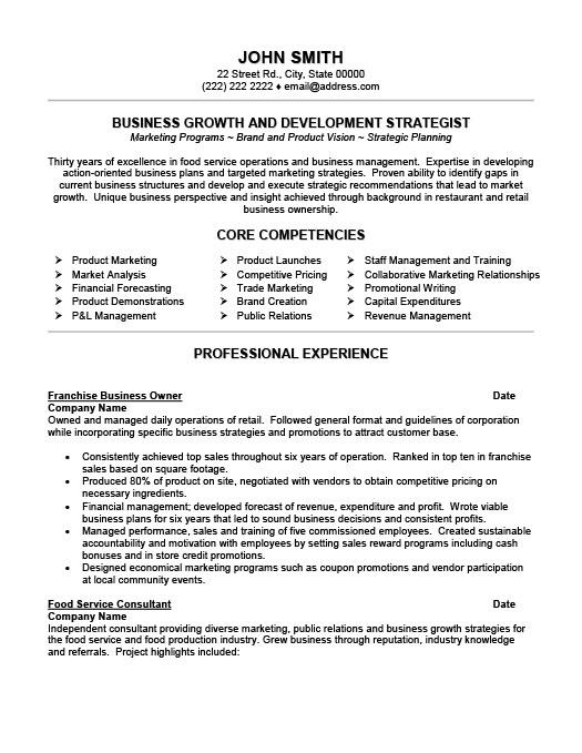 business owner resume template premium resume samples amp example