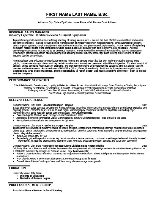 regional sales manager resume template premium resume samples