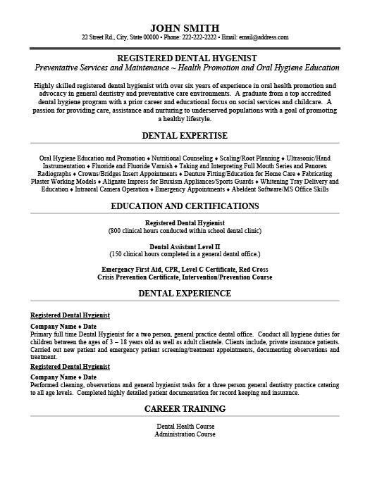 Dental Resumes Templates. Resume Workbloom Dental Student Resume