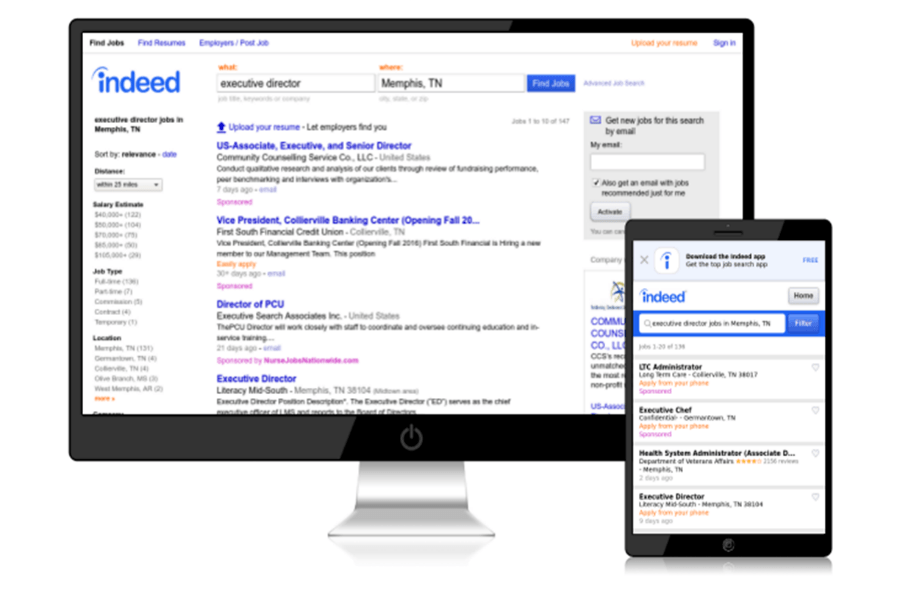 How To Use The Indeed Mobile App Tutorial Search Indeed Jobs